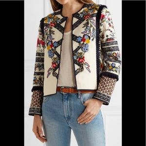 TORY BURCH Amber embroidered canvas jacket 6